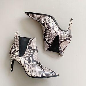ZARA Snake Print Ankle Boots
